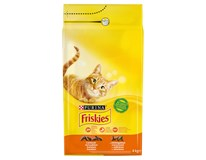 Purina Friskies kuře+zelenina granule pro kočky 1x4kg