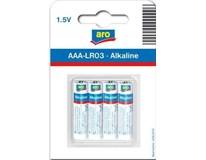 Baterie ARO LR03 1,5V AAA 4ks