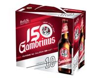 Gambrinus Original 10° pivo světlé 8x500ml sklo multipack