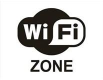 Samolepka Wi-fi zone 160x120mm 1ks