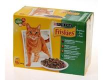 Purina Friskies Kapsa masový výběr pro kočky 12x100g