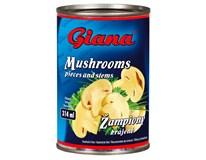 Giana Žampiony krájené 12x314ml