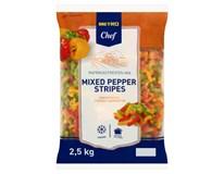 Metro Chef Paprika krájená trio mix mraž. 1x2,5kg