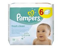 Pampers Vlhčené Ubrousky Fresh Clean-Sixpack 6x64ks
