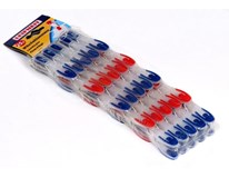 Kolíčky Leifheit modré/červené 25ks