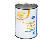 ARO Ananas kousky v mírně sladkém nálevu 6x580ml