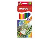 Pastelky akvarelové trojhranné Kores 3mm 12ks