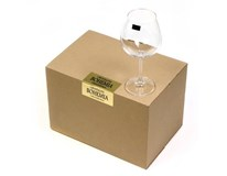 Sklenice Bohemia Crystal Burgundy Gastro 650ml 6ks