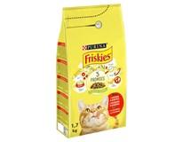 Purina Friskies hovězí maso+kuře+zelenina granule pro kočky 1x1,7kg