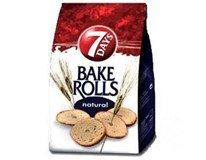 7Days Bake Rolls Křupavé chipsy Natural 14x80g