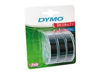 Páska Dymo 9mm x 3m černá 3ks
