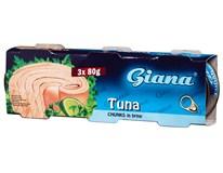 Giana Tuňák kousky ve vlastní šťávě 3x80g