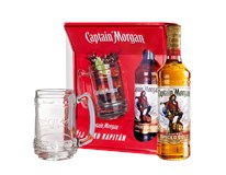 Captain Morgan Spiced Gold 35% + korbel 1x700ml