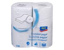 ARO Toaletní papír 2-vrstvý modrý 16x4ks