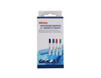Popisovač na bílé tabule + houba Sigma mix 4ks