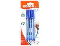 Tužka kuličková Kores K1 0,7mm modrá 4ks