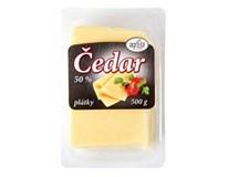 Čedar 50% sýr plátky chlaz. 1x500g