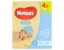 Huggies Vlhčené ubrousky Pure 1x(4x56ks)