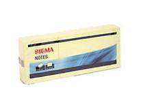 Bloček Sigma 50x40mm žlutý 6ks