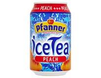 Pfanner Ledový čaj broskev 24x330ml plech