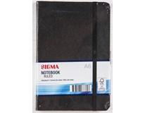 Zápisník Sigma A6 96listů linkovaný černý 1ks