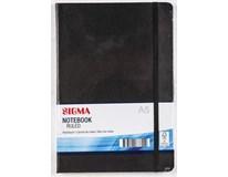 Zápisník Sigma A5 96listů linkovaný černý 1ks