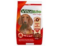 VitalBite Hovězí kroužky pro psy 1x1,5kg