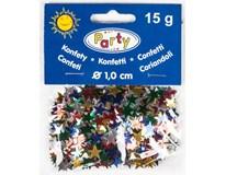 Konfety lesklé hvězdy barevné 15g 1ks