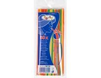 Slámky neon flexibilní 24cm 5mm 50ks