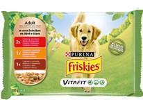 Friskies Kapsa Adult hovězí+kuřecí+jehněčí pro psy 4x100g
