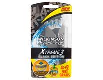 Wilkinson Sword Xtreme3 Black Edition pán. 1x4+2ks