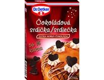 Dr.Oetker Srdíčka v extra hořké čokoládě 1x45g