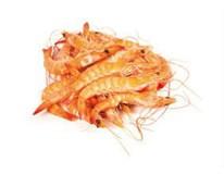Krevety celé vařené 80/100 chlaz. 1x500g