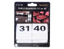 Číslice na stoly 31-40 1ks