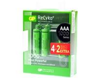 Baterie GP ReCyko HR03 1000 AAA 4+2ks