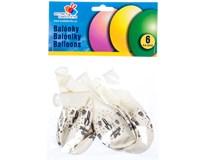 Balónky nafukovací 30cm svatební 6ks