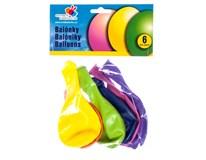 Balónky nafukovací 33cm barevný mix 6ks