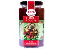 Lucien Georgelin Džem Červené ovoce 4druhy 100% 1x300g ve skle
