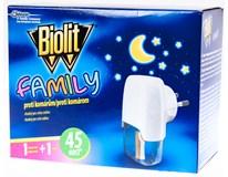 Biolit Family Odpařovač elektrický 1x1ks + náhradní náplně 1x45ks
