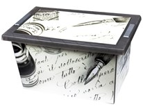 Box Old Pen víko kolečka 60x40x32cm 1ks