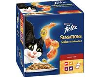 Felix Sensations kuřecí+hovězí+jehněčí+kachní pro kočky 24x100g