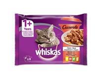 Whiskas Caserole klasický výběr pro kočky 4x85g