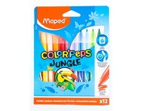 Fixy barevné Maped Color'Peps Jungle - Marker 12 barev 1bal.