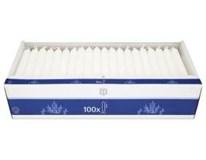 Svíčka H-Line 2x18cm bílá 100ks