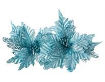 Poinsettia Vánoční hvězda třpytivá tyrkysová 1ks
