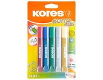 Lepidlo Kores Glitter glue 10,5ml 5 barev 1ks