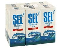 SEL Mořská sůl s jódem 6x500g
