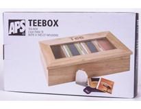 Box Tea dřevěný 33,5x20x9cm 1ks