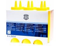 Láhev dávkovací H-Line žlutá 260ml 6ks