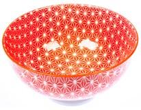 Miska porcelánová 15cm linka červená 1ks